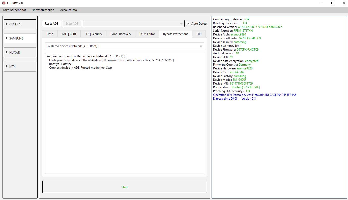 EFT Dongle Update v2.8 Fix Network Demo Samsung