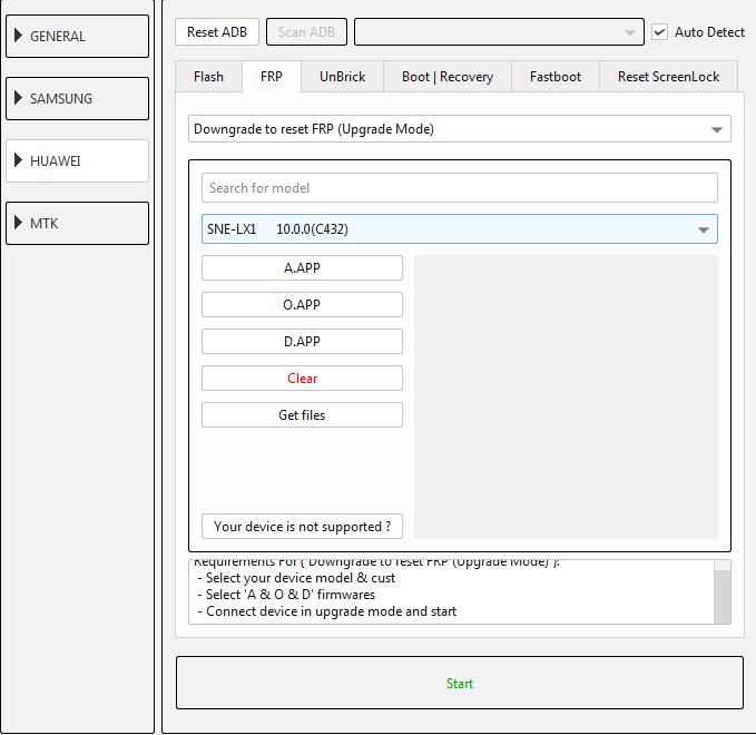 طريقة عمل دونجريد وفك حساب جوجل لجهاز (SNE-LX1 10.0.0 (C432 عن طريق EFT DONGLE