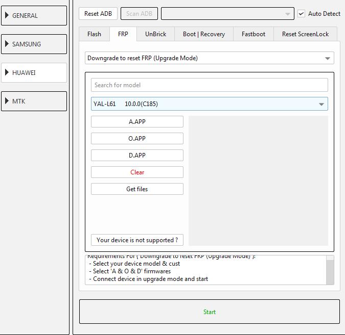 طريقة عمل دونجريد وفك حساب جوجل لجهاز (YAL-L61 10.0.0(C185 عن طريق EFT DONGLE