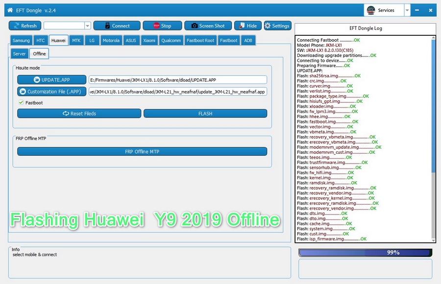 EFT Dongle Version 2 4 is Released - New Huawei Offline Flashing