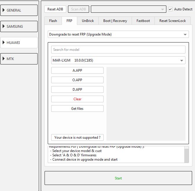 طريقة عمل دونجريد وفك حساب جوجل لجهاز (MAR-LX1 10.0.0 (C185 عن طريق EFT DONGLE