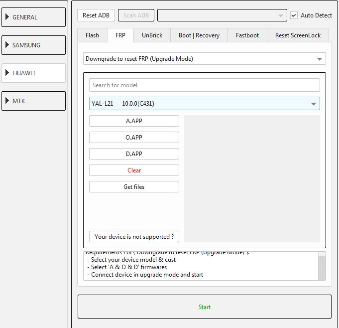 طريقة عمل دونجريد وفك حساب جوجل لجهاز (YAL-L21 10.0.0(C431 عن طريق EFT DONGLE