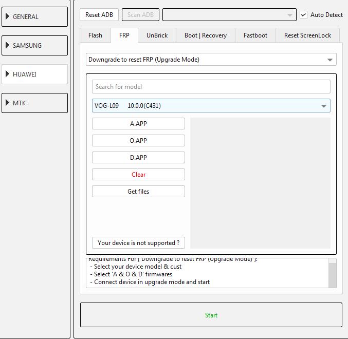طريقة عمل دونجريد وفك حساب جوجل لجهاز (VOG-L09 10.0.0(C431 عن طريق EFT DONGLE