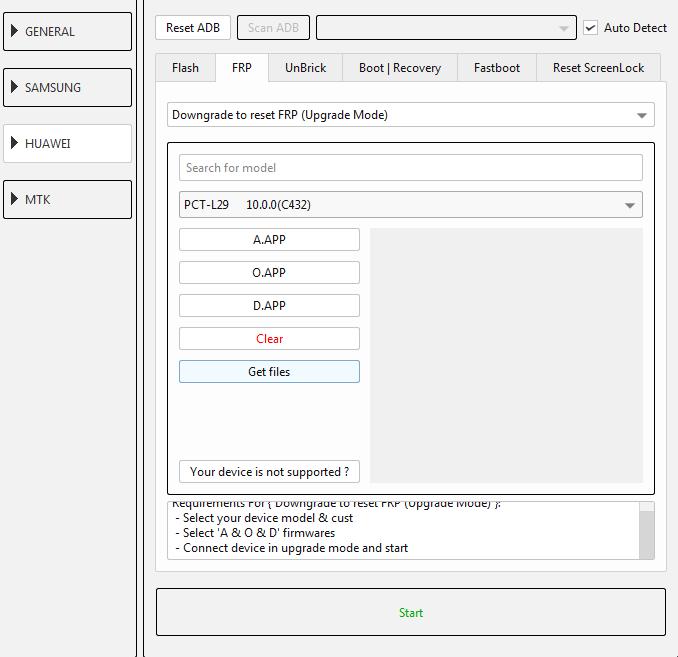 طريقة عمل دونجريد وفك حساب جوجل لجهاز (PTC-L29 10.0.0 (C432 عن طريق EFT DONGLE