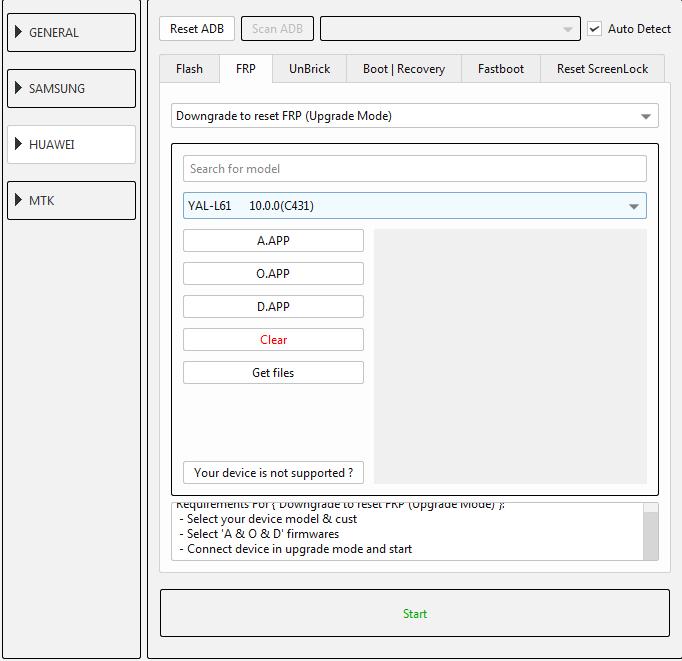 طريقة عمل دونجريد وفك حساب جوجل لجهاز (YAL-L61 10.0.0(C431 عن طريق EFT DONGLE