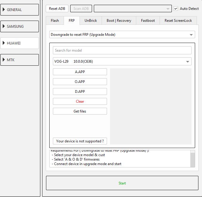 طريقة عمل دونجريد وفك حساب جوجل لجهاز (VOG-L29 10.0.0(C636 عن طريق EFT DONGLE