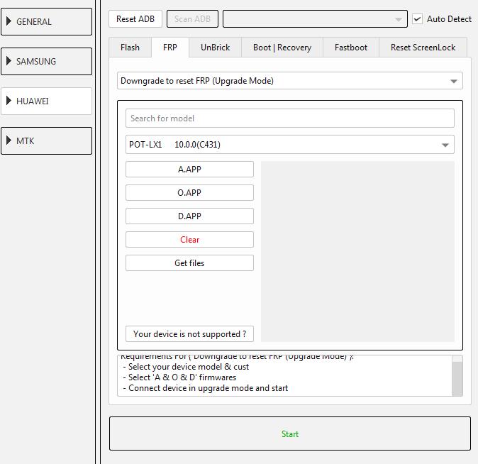 طريقة عمل دونجريد وفك حساب جوجل لجهاز (POT-LX1 10.0.0 (C431 عن طريق EFT DONGLE