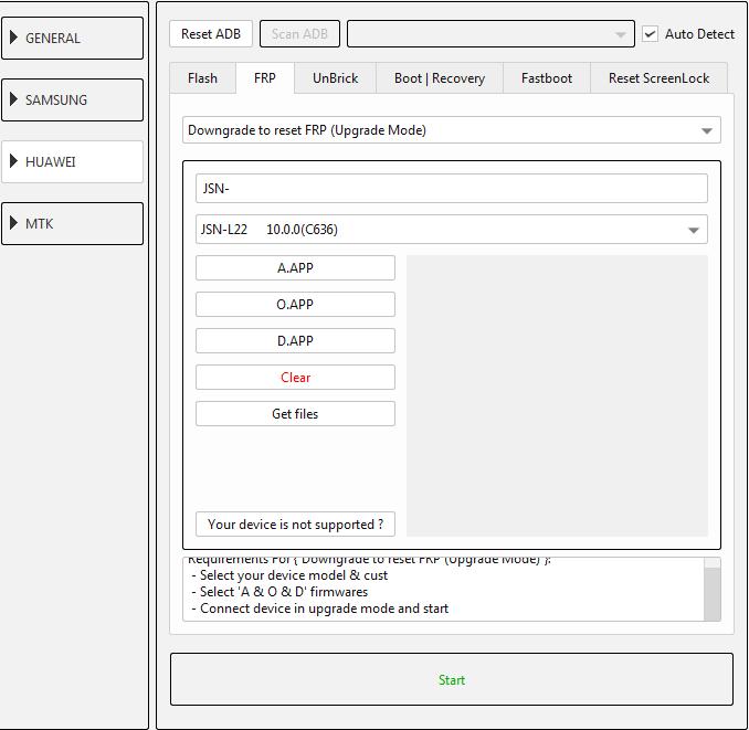 طريقة عمل دونجريد وفك حساب جوجل لجهاز (JSN-L22 10.0.0 (C636 عن طريق EFT DONGLE